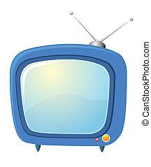 Retro television. Vector tv on white for design