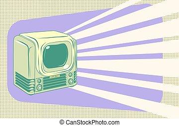 retro television vintage illustration