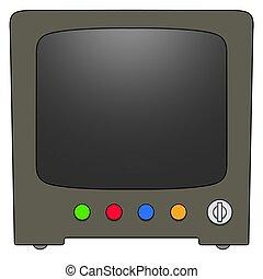 retro, televisione