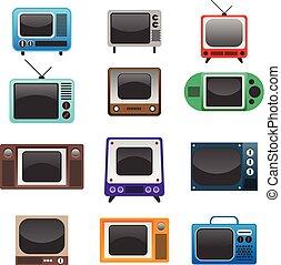 Retro Televisions Set