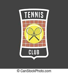 Retro tennis label in vector