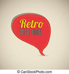 retro text balloons