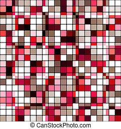 Retro tile mosaic - Retro tile color mosaic pattern...