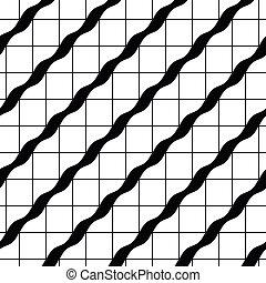 Retro tiles seamless pattern, vector background.