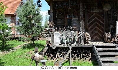 retro tools log house
