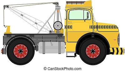 Retro tow truck