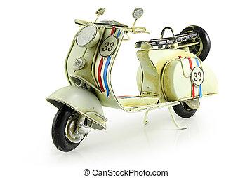 Retro toy motorcycle