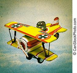 toy plain - retro toy plain