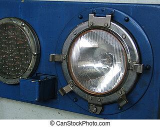 Retro train headlamp