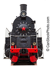 retro train, isolated