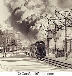 Retro train moves.