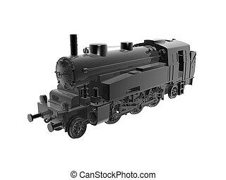 retro, train vapeur