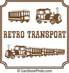 retro, transporte