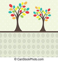 Retro tree. vector illustration
