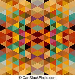 retro, triângulos, seamless, padrão, experiência., eps10, file.