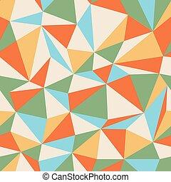 Retro Triangle seamless colorful pattern