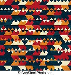 Retro triangle seamless pattern.