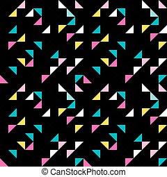 Retro triangle seamless pattern