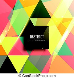 retro triangles pattern background design