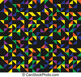 Retro Triangles Pattern