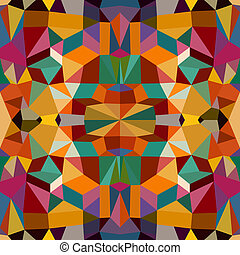 Retro triangles seamless pattern background. EPS10 file. -...