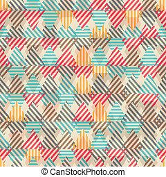 retro, triangulo, seamless, padrão