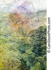 retro tropics watercolor