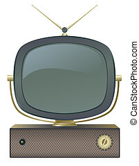 A classic retro television set.