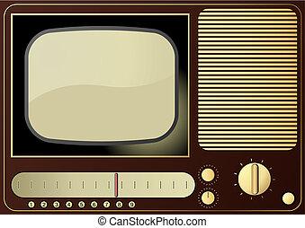 Retro TV - Editable vector background - retro radio and TV