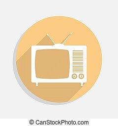 Retro TV flat icon