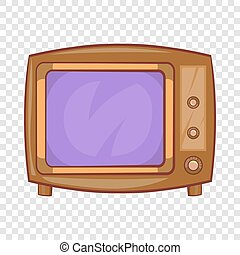 Retro tv icon in cartoon style