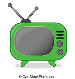 Retro TV icon, vector