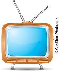 Retro TV icon, vector eps10 illustration
