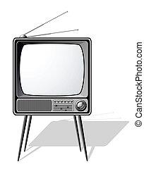 Retro TV isolated on white