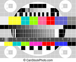 Retro TV multicolor signal test pattern
