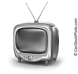 Retro TV Set. Isolated on white background. My own design.
