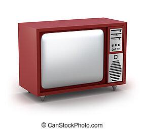 Retro TV Set. My own design. Isolated on white
