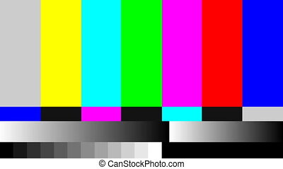 TV signal pattern for test purposes - Retro TV signal ...