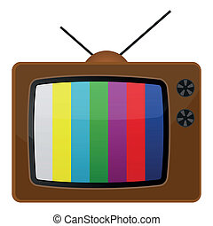 Retro tv, test pattern. EPS 10