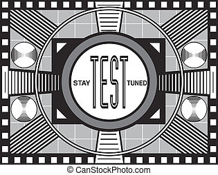 Retro TV Test Pattern - TV broadcast test pattern modeled...
