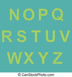 Retro type font