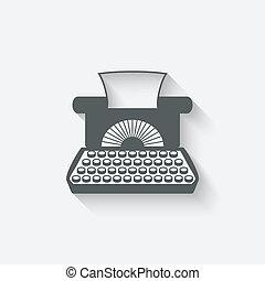 retro typewriter design element