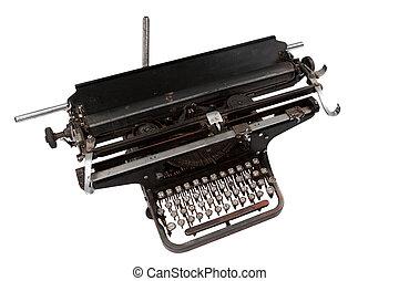 retro typewriter isolated on white background