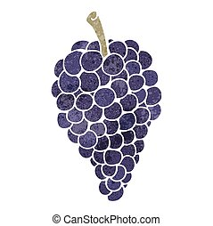 retro, uva, cartone animato