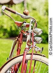 retro, vélo, dans, a, park.
