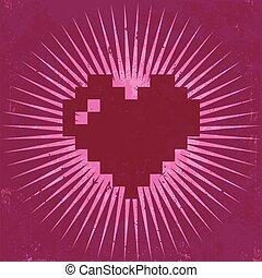 Retro Valentine Greeting Card