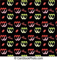Retro valentine pattern with hearts