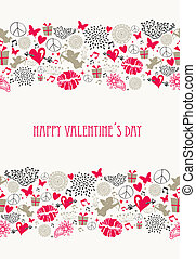 Retro Valentines day postcard collection