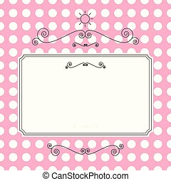 Retro Vector Background. Abstract Curled Shapes on Pink Pattern. Perfect for Print or Web Design.