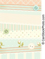 Retro vector background in shabby chic style